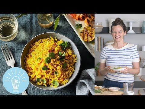 andrea-nguyen's-vibrant-turmeric-coconut-rice-|-genius-recipes