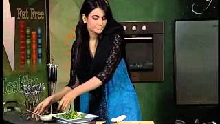 "Diet Zaiqa With Ayesha Abrar ""baked Pasta With Spinach, Lemon & Mushrooms"" Part 02 Of 02 At Zaiqa Tv"