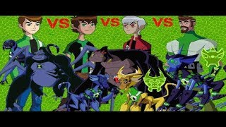Ben10 All Spidermonkey Ben10 Alien Force VS Ben10 Ultimate VS Ben10 Omniverse VS Ben10 reboot
