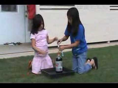 how to make a volcano erupt with coke and mentos