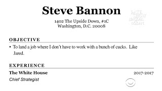Steve Bannon Updates His Resumé