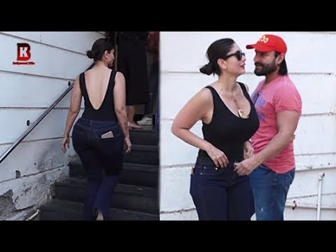 Kareena Kapoor Arrives With Saif Ali Khan At Rujuta DIWEKAR OFFICE FOR FACEBOOK LIVE