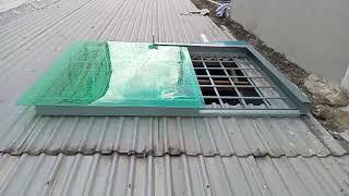Công trình lắp đặt giếng trời tự động trên mái tôn