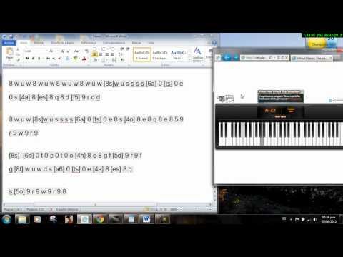 Titanic virtual piano
