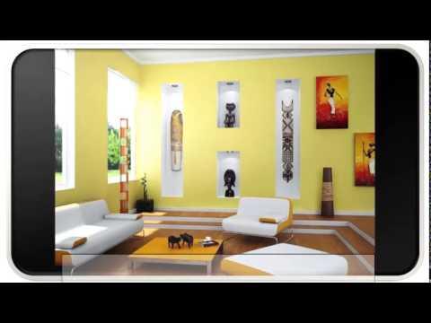 Warm Blue Modern Living Room