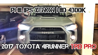 (Part5) 2017 4Runner TRD PRO Cement. Light Display. HID Philips Xenon 4300K.