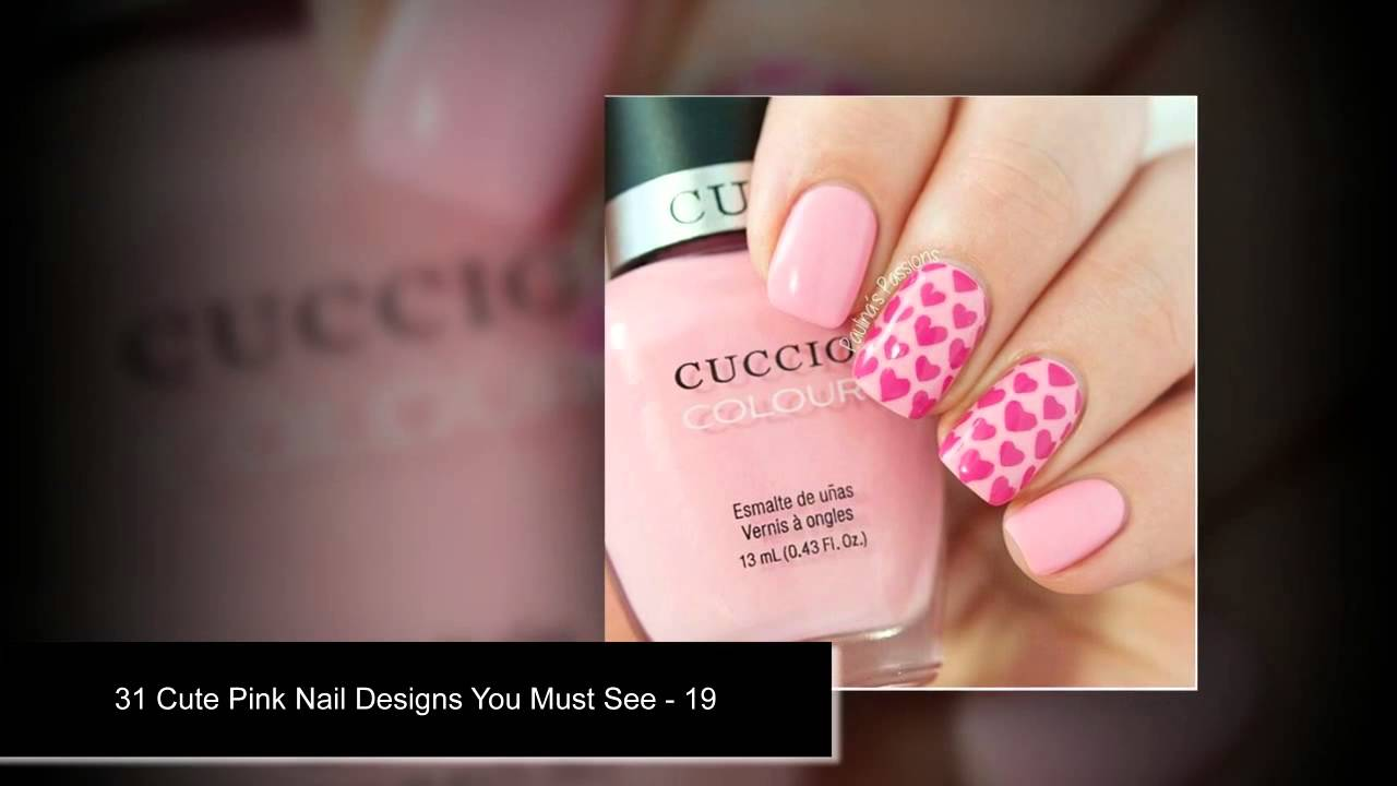 31 Cute Pink Nail Art Designs Step By Step For Teenagers Nail Art