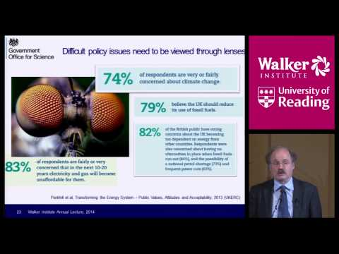 Sir Mark Walport presents the Walker Institute Annual Lecture  2014