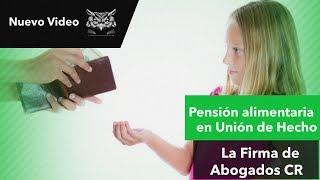 Pensión alimentaria en la Unión de Hecho, sin estar declarada judicialmente.