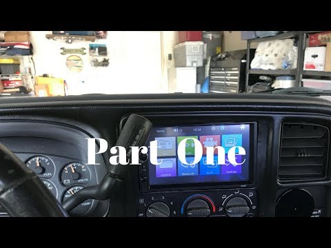 Part One 2000 GMC Sierra 1500 Dash Renewal & Double Din Radio Modification And Installation