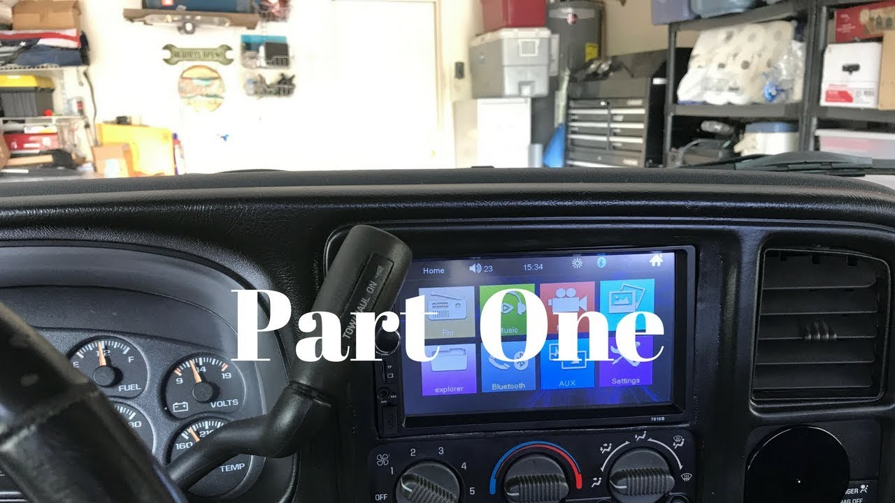 Part One 2000 Gmc Sierra 1500 Dash Renewal Double Din Radio Modification And Installation