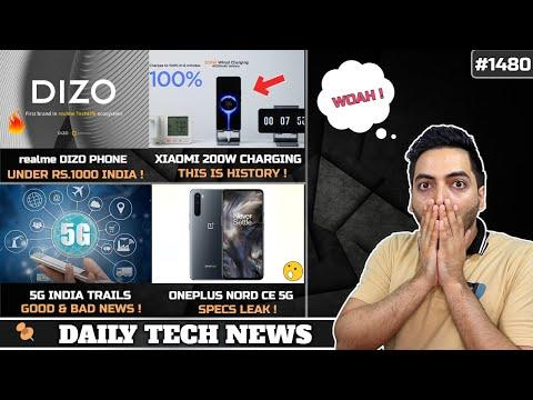 realme Dizo Phone Under Rs.1000,Xiaomi 200W Charging,POCO X3 GT India,Nord CE Specs,Intel 5G Laptop