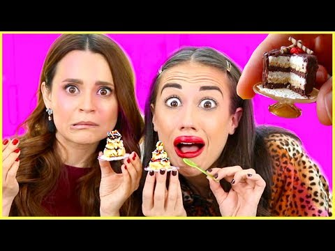 MAKING THE TINIEST CAKE IN THE WORLD w/ Rosanna Pansino!