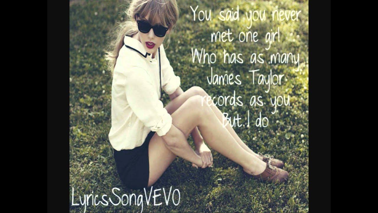 Taylor Swift Begin Again Lyrics Hd Youtube