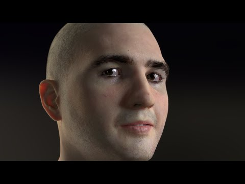 Head made with Blender