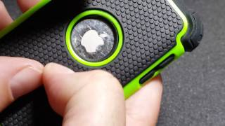 iPod Touch 4 Case. Bastex Hybrid Slim Fit Black Rubber Silicone Cover