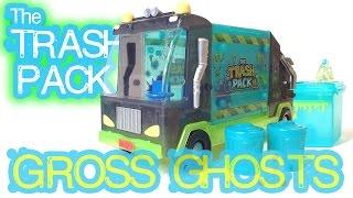 Trash Pack Gross Ghosts Garbage Truck Halloween Review! October 2014 Ghosties Dumpster Wheelie Bin