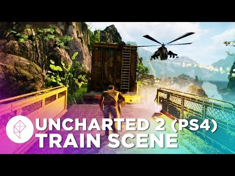 Watch Uncharted 2's iconic train level at 60 fps in The Nathan Drake Collection