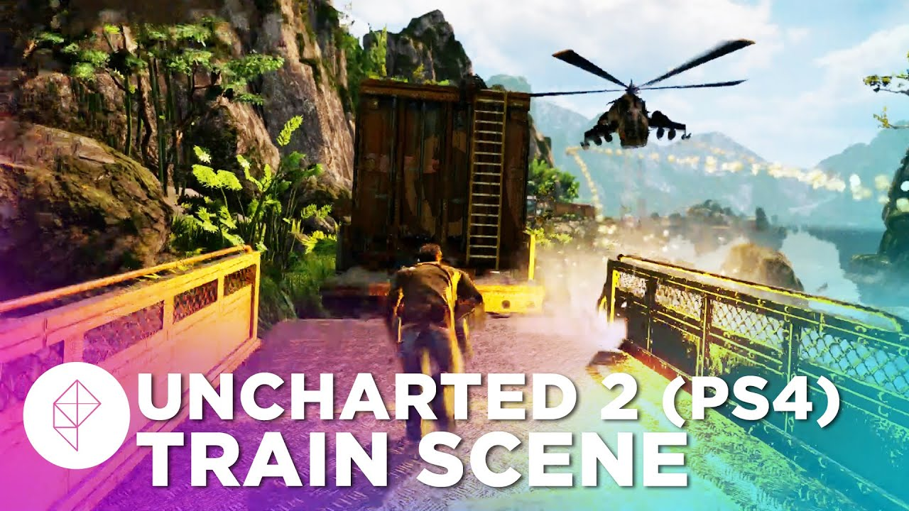 Uncharted 2 Train Scene Ps4 Gameplay Nathan Drake Collection