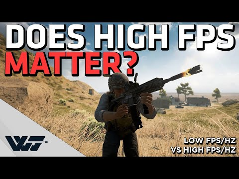 DOES HIGH FPS/HZ MATTER? Comparing and testing the difference - PUBG