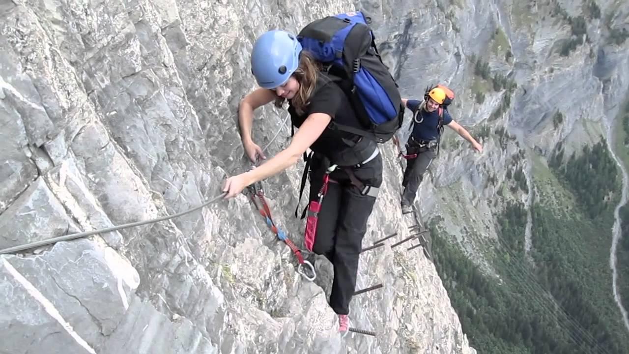 Klettersteig Daubenhorn : 2009 klettersteig leukerbad youtube