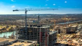 4K Time lapse construction in Austin, Texas