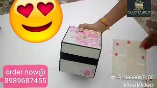Anniversary gift # Explosion box # soft color# surprise  for husband /wife