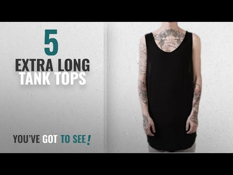 Top 10 Extra Long Tank Tops [Winter 2018 ]: Q&Y Unisex Cotton Hip Hop Extra Long Longline Curved