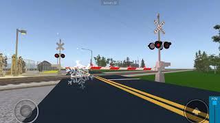 Weber road, Railroad crossings Malfunction!? Woah in Roblox town