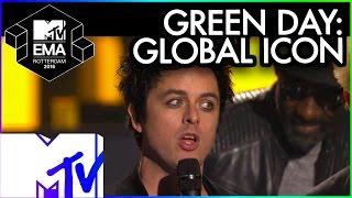 Green Day Accept Global Icon Award | 2016 MTV EMA