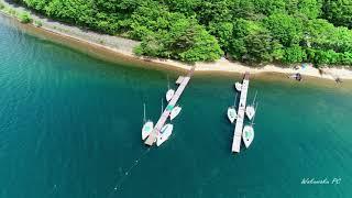 【4K空撮】猪苗代湖中田浜(会津ドローン愛好会第21回オフ会)Fukushima