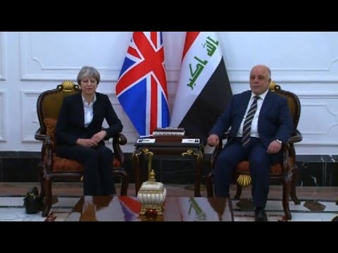 Britain's May on surprise visit to Baghdad, meets with PM