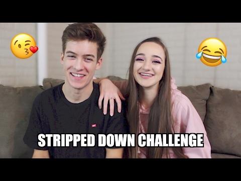 STRIPPED DOWN CHALLENGE | Maddie and Elijah