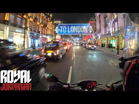 London Lights on a Husqvarna Nuda 900R