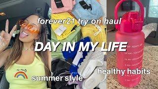 VLOG: Huge Forever21 Summer Try-on Haul, Productivity, Packing Orders, Gym, Amazon Activewear, Etc