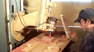 Repeat youtube video Cedar box milled from router milling machine
