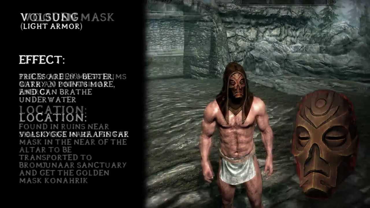 ★ Skyrim ALL Dragon Priest Masks (+ Clavicus Vile) [HD]