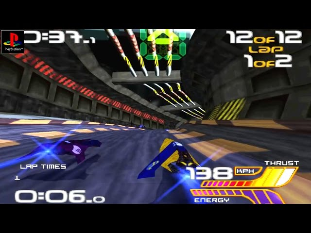 Wipeout 2097 - Gameplay PSX / PS1 / PS One / HD 720P (Epsxe)