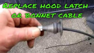How to Replace a BMW Hood Latch Cable or Bonnet as Some Know it