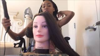 Cosmetology Mannequin Head with Synthetic Hair from Amazon Review