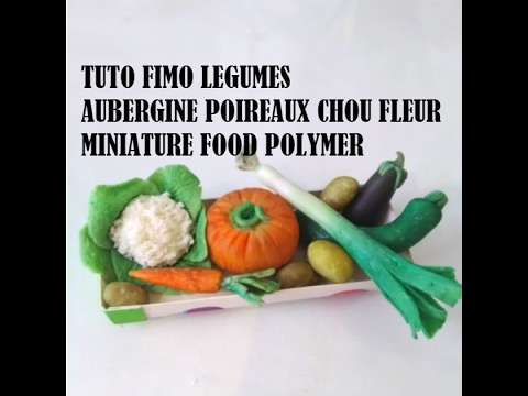 tuto fimo l gumes polymer clay tutorial minuature food youtube. Black Bedroom Furniture Sets. Home Design Ideas