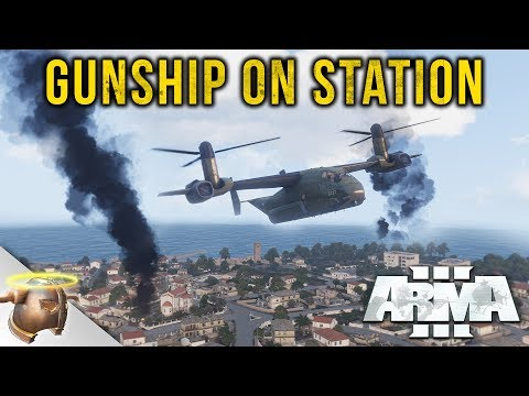GUNSHIP ON STATION: ARMA 3 dual-perspective close air support mission