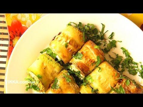 РУЛЕТИКИ из кабачков c сыром и чесноком-VIKKAvideo