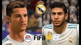 FIFA 18 - ALL REAL MADRID PLAYERS (REAL FACES & STAT)