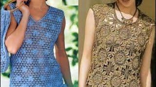 Вязание летних кофточек крючком Схемы - Knitting Summer Blouses Crochet Patterns