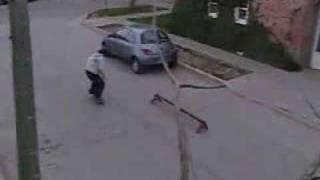 Hariel - Santi   Skate en Trelew 2004
