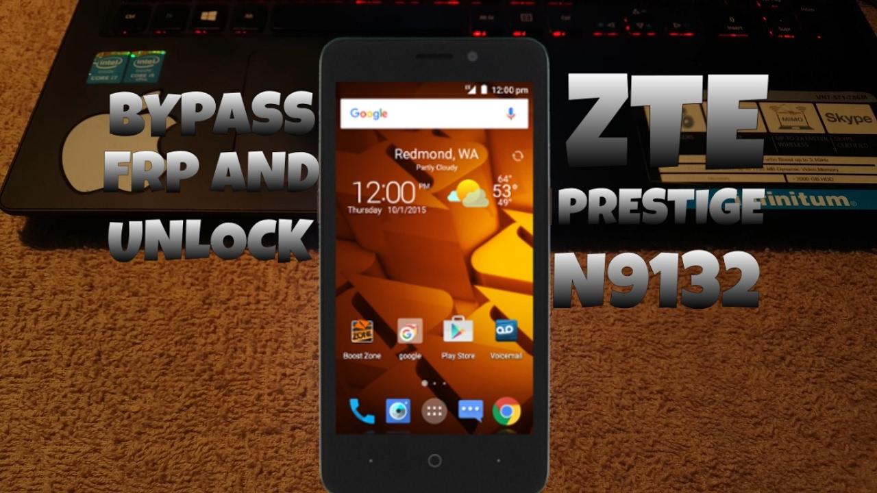 UNLOCK  ZTE n9132 (Boost Mobile)- Prestige