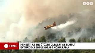 """""""Semmi nem maradt az otthonunkból"""" - hatodik napja pusztítanak az erdőtüzek Görögországban"""