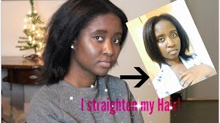 4c hair straightened| salon disaster experience