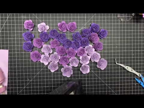 3D Cricut Paper Rose Shadow Box